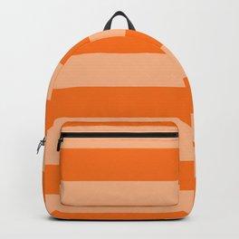 Harvest Pumpkin Orange Cabana Tent Stripe Backpack