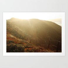 big sur cliffs Art Print