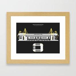 WESTFALENSTADION - Borussia Dortmund Stadium Framed Art Print