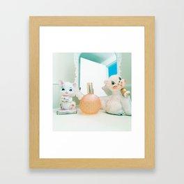 vanity cats Framed Art Print