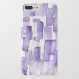 Purple Watercolour Patterns | 190129 Abstract Art Watercolour iPhone Case