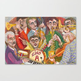 All That Jazz  - New Orleans Jazz Band Canvas Print