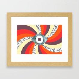 Hypno Retro Eye Framed Art Print