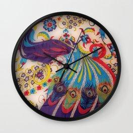 Vintage Silk Wall Clock