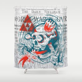 Speak No Evil by Handsome Lad Shower Curtain