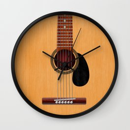 Acoustic Guitar Wall Clock