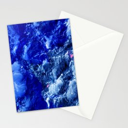 Abstración Océanica Azul Stationery Cards