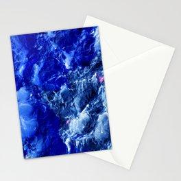 Abstración Océanica Azul Stationery Cards