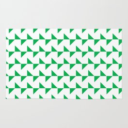 Flying Triangles Green Rug
