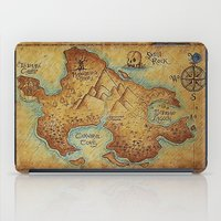 "pirates iPad Cases featuring Pirates Map by ""CVogiatzi."