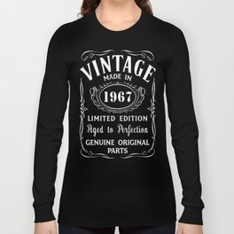 50th-Birthday-Gift-Idea-T-Shirt-Vintage-Made-In-1967 Long Sleeve T-shirt