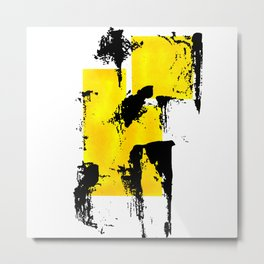Yellow & Black Metal Print