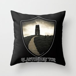 Dark Tor - Glastonbury Throw Pillow