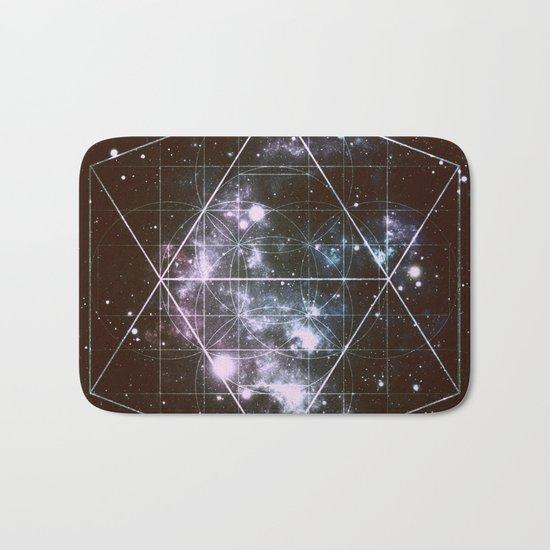Galaxy Sacred Geometry dark Bath Mat
