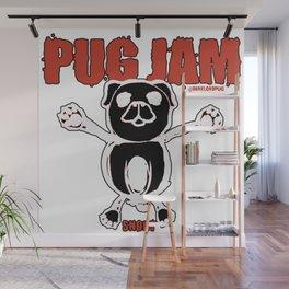 Pug Jam Wall Mural