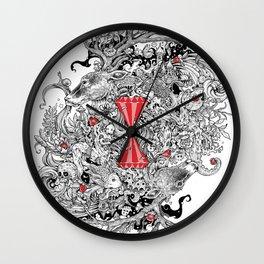 10 of Diamonds Wall Clock