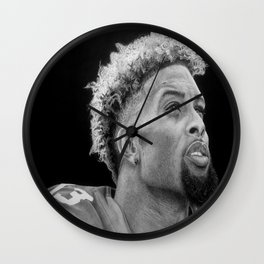 Odell Beckham Jr. Drawing Wall Clock