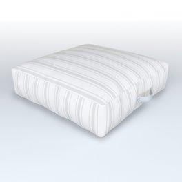 Creamy Tofu White Mattress Ticking Wide Striped Pattern - Fall Fashion 2018 Outdoor Floor Cushion