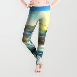 Awa Prefecture whirlpool on a clear day in Japan Leggings