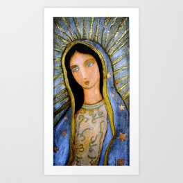 Our Lady of Guadalupe by Flor LArios Art Print