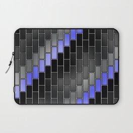 BRICK WALL #2 (Black, Grays & Light Blue) Laptop Sleeve