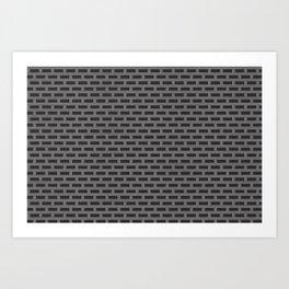 Rectangular metal grate Art Print