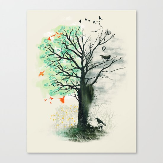 They Loved the Landscape to Death Canvas Print