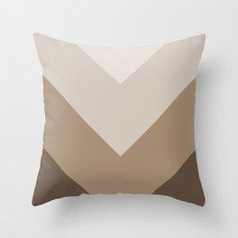 Brown Taupe Chevron Stripes Throw Pillow