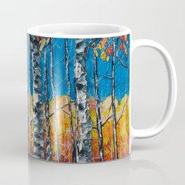 Colorado Aspen Grove Palette Knife Painting  Coffee Mug