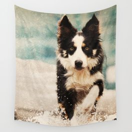 The Best Friends - Snow's Border Wall Tapestry