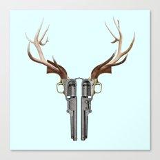 GUN SKULL Canvas Print