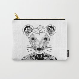 Portrait of a teen mouse wearing a T-shirt Carry-All Pouch