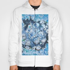 Marbled Blue Universe Hoody