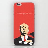 hitchcock iPhone & iPod Skins featuring Hitchcock by berg with ice