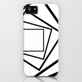 Hypnotic Black And White iPhone Case