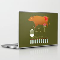 cow Laptop & iPad Skins featuring Cow by Mira Maijala