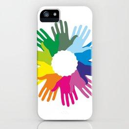 Hand color imprints iPhone Case