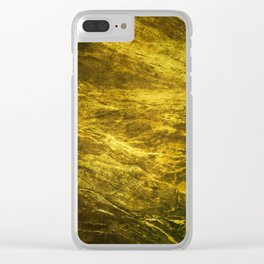 Classic Vintage Gold Faux Marble With Gold Veins Clear iPhone Case