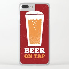 Beer On Tap Clear iPhone Case