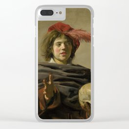 """Frans Hals """"Young man with a skull"""" Clear iPhone Case"""