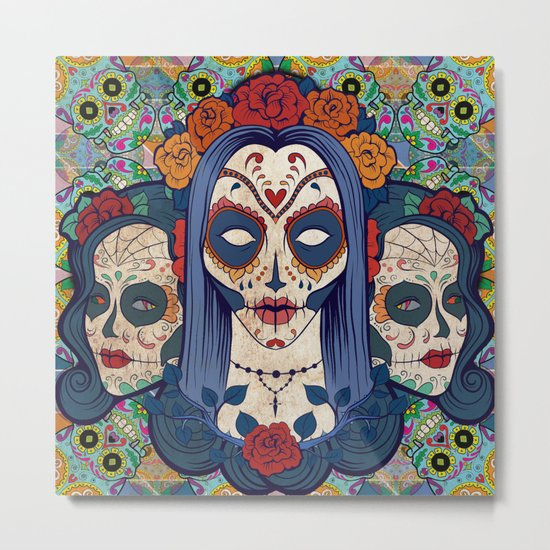 Muerto Ladies Metal Print
