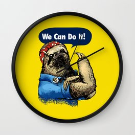 We Can Do It Sloth Wall Clock