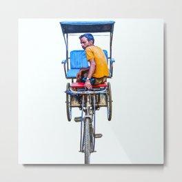 Cycle Wala, Jaipur. India Metal Print