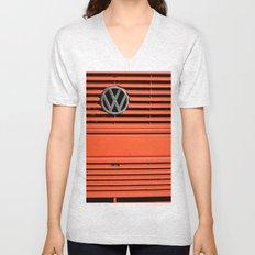 Red Volkswagen Unisex V-Neck