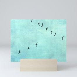 GEESE FLYING Mini Art Print