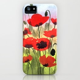 Poppies at Sunset iPhone Case