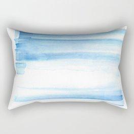 180527 Abstact Watercolor 25 Blue  Watercolor Brush Strokes Rectangular Pillow