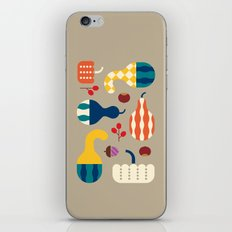 Autumn Gourds Gold iPhone & iPod Skin