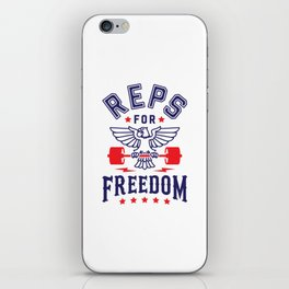 Reps For Freedom iPhone Skin