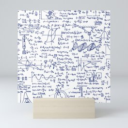Physics Equations in Blue Pen Mini Art Print